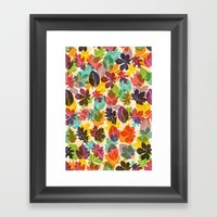 Autumn leaves Framed Art Print by Fimbis