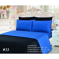 Tache 4-6 Piece Deep Blue Reversible Duvet Cover Set (DC46PC-BB)