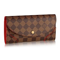 Louis Vuitton N61221 Damier Canvas Caissa Wallet, Cherry