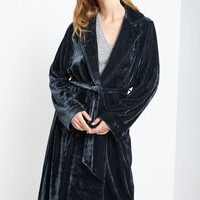 Charlie Velvet Trench Coat