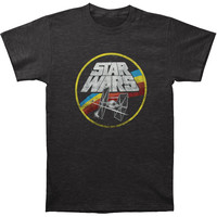 Star Wars Men's  Circle Fight T-shirt Heather Charcoal Rockabilia