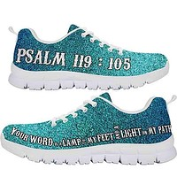 Psalm 119:105   Shoes with Bible verses on them