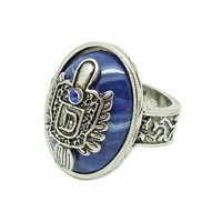 Vintage Badge Ring in Punk Style