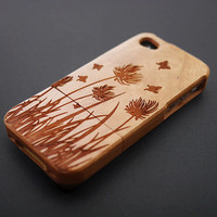 Buy 1 Get 1 Free - Spring Grass Bamboo Wood iPhone 5 Case, Personalized Wood iPhone 5 Case , Wooden iPhone 5 Case , Cover iPhone 5 Case