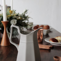 Matte Grey Bone China Water Pitcher