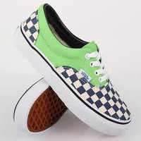 Vans Era(2 Tone Checker)Green
