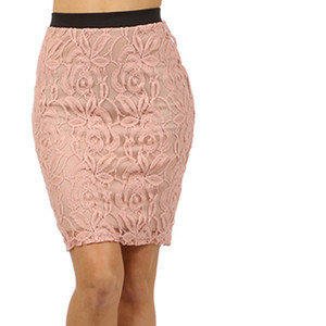 pretty lace pencil skirt soft blush pink from ebay