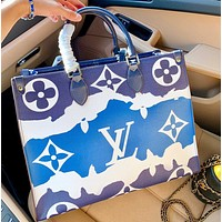 Lv 2020 Onthego Gm Ice cream gradient shopping bag