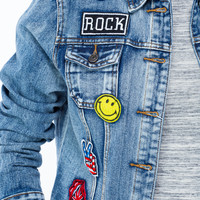 Patch You Up Buttoned Jean Jacket GoJane.com