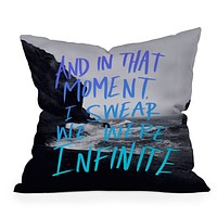 Leah Flores Infinite Throw Pillow