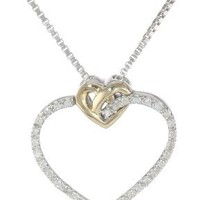 XPY Sterling Silver and 14k Gold Lov...