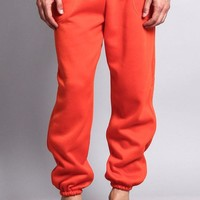 Basic Solid Color Fleece Sweatpants