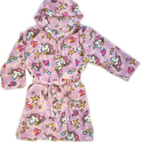 Made with Love and Kisses Plush Robe - Unicorns