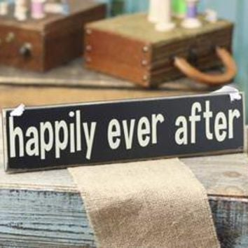 """""""Happily Ever After"""" Wood Sign - Car Decorations - Wedding Decorations - Wedding Supplies"""