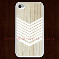 wood iPhone 4 Case, iphone 4s case, chevron iphone 4 case, iPhone Hard Case