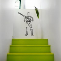 Wall Decals Vinyl Sticker Star Wars Storm Trooper Decal Wall Decor Home Interior Design Art Mural Boys Room Kids Bedroom Dorm Z761