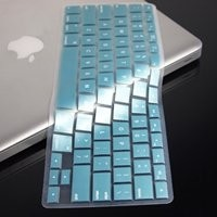 """TopCase® METALLIC BLUE Keyboard Silicone Cover Skin for Macbook Pro 13"""" 15"""" 17"""" with or without Retina Display + TOPCASE® Logo Mouse Pad"""