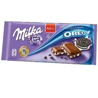 Milka Oreo Alpine Milk Chocolate, 3.5 oz Bar-Pack of 3