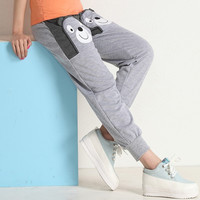 Hot sell  Yoga Pants harem pants women sport pants casual sweatpants loose trousers women joggers capris (Color: Grey) = 1932740932