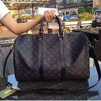 Louis Vuitton NEW HOT FASHION MONOGRAM LEATHER KEEPALL 50 TRAVEL BAG
