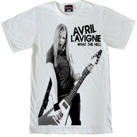 Avril Lavigne Play guitar star T-Shirt Size S to XL