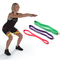 Purple red green combination cheaper new fitness equipment body strength yoga training pull up resistance bands