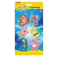 Nickelodeon SpongeBob Erasers Multicolor Pack Of 6 Erasers - Office Depot