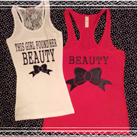 Free Shipping-HAlf Lace Back Matching Same Sex Couples Tanks Or TShirts