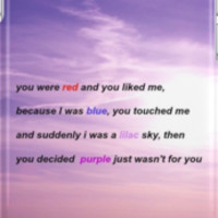 Halsey Colors Lyric Phone Case by Discnnected