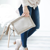 Adobe Clutch - Taupe