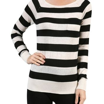 Long Raglan Sleeve Knit Sweater