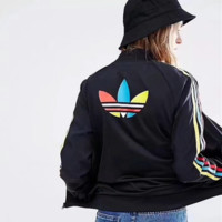 adidas On the back Big Logo Originals Track Jacket Casual Sports