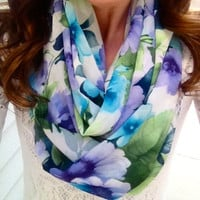 Flower Child Infinity Scarf