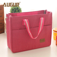 New Fashion Lancheira Lunch Box Cooler Insulated Lunch Bag For Women Thermal Canvas Bag Lunch Bolsa Termica