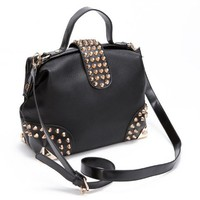 New Style Fashion Pull Wind Cone Rivets Handbag Shoulder Bag