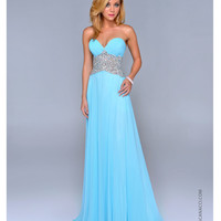 Nina Canacci 2014 Prom Dresses - Baby Blue Chiffon & Beaded Empire Waist Prom Dress
