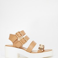 River Island Fritta Cleated Sole Strappy Sandals at asos.com