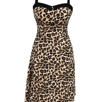 Women's Leopard Swing Dress