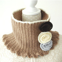 Crochet PATTERN : Madelyn Flower Cowl (baby, toddler, child and adult size)
