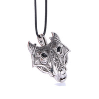 2016 Fashion Norse Vikings Pendant Necklace Norse Wolf Head Necklace Original Animal Jewelry Wolf Head
