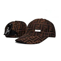 FENDI embroidery Strap Cap Adjustable Golf Snapback Baseball Hat