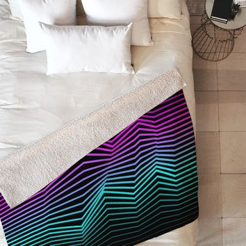 Three Of The Possessed Miami Nights Fleece Throw Blanket