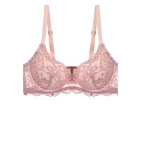 Two Tone Floral Lace Push Up Bra