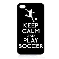 Keep Calm and Play Soccer (Soccer Player) Hard Case Cover for Iphone 5c + Free Wristband Accessory