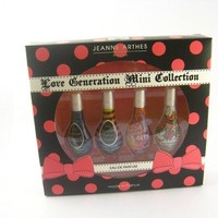 Love Generation Fragrance Collection by Jeanne Arthes EDP Splash Mini 0.23 oz ~ 4 pc Gift SET