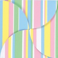 "100 Baby Stripes Gift Card Folders with Silver Holders, 6""x6"""