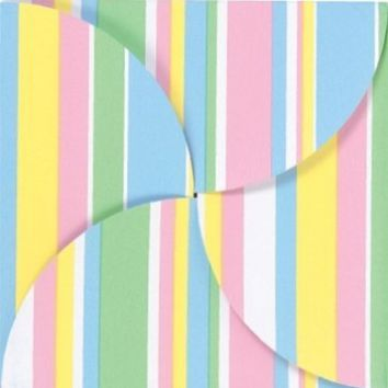 """100 Baby Stripes Gift Card Folders with Silver Holders, 6""""x6"""""""