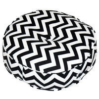 Greendale Home Fashions Zig Zag Fabric Round Floor Cotton Pillow