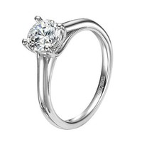 ArtCarved 14K White Gold Abby Engagement Ring Wedding Day Diamonds
