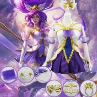 LOL The Lady Of Luminosity Lux Cosplay Costumes Janna Puella Magi Madoka Magica Fancy Outfit set for Halloween